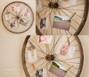 diy shabby chic photo idea pinterest display