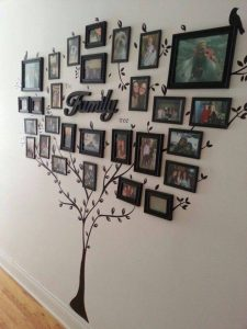 family photo tree display